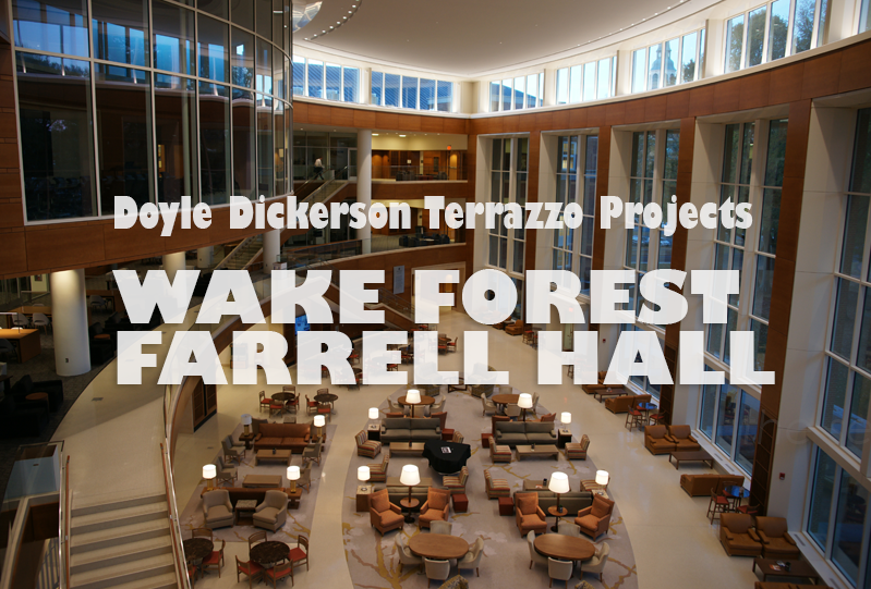 Doyle Dickerson Terrazzo - Wake Forest University Farrell Hall