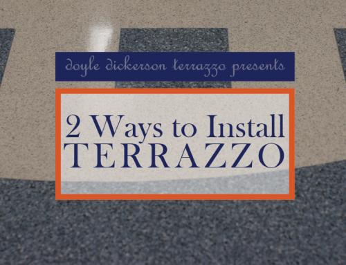 2 Ways to Install Terrazzo