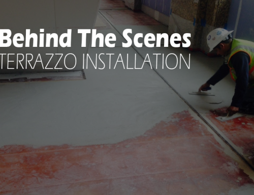 Behind the Scenes: Terrazzo Installation