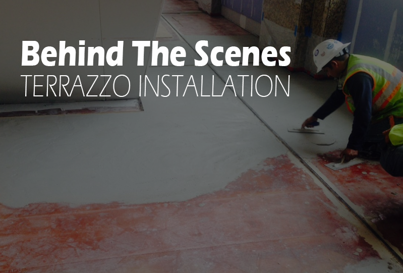 View Larger Image Behind The Scenes Terrazzo Installation