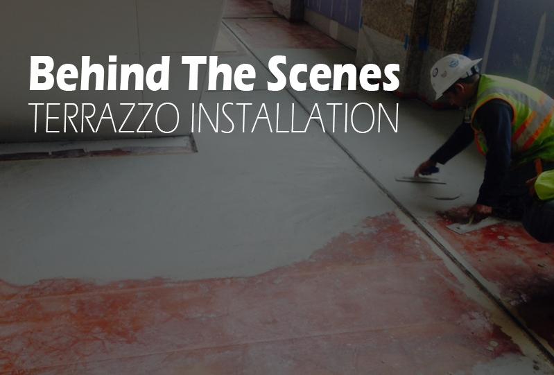 Behind The Scenes Terrazzo Installation Process Terrazzo
