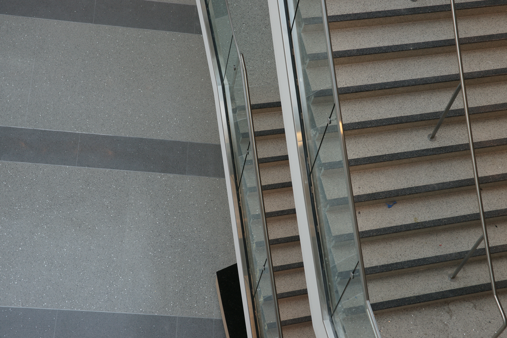 Precast Terrazzo Stairs and Flooring using recycled glass materials