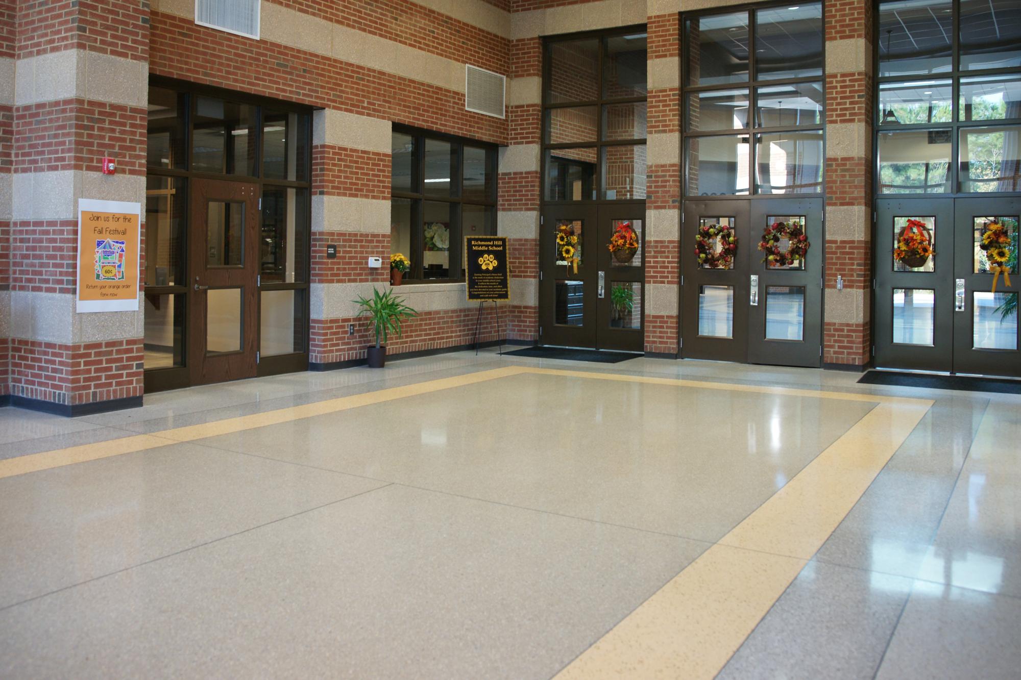 Terrazzo Floor in School Lobby