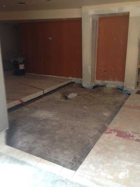 Terrazzo Flooring Process: Shotblasting