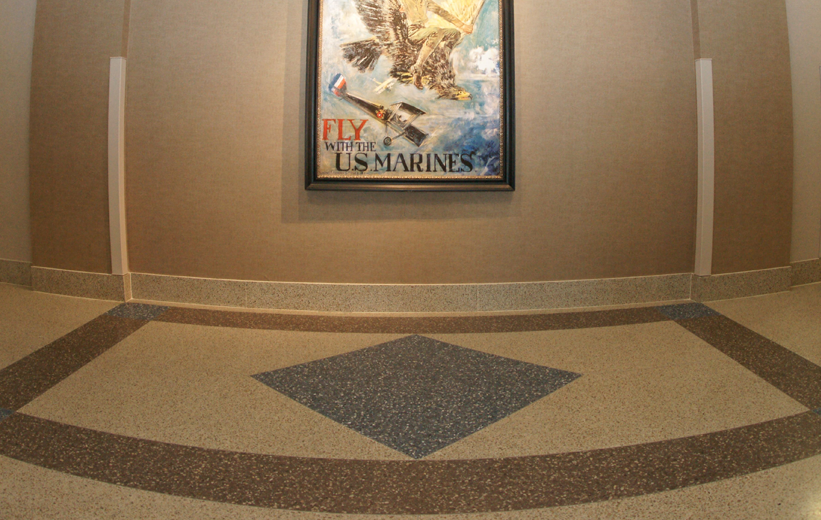 Fly with the US Marines Poster and Terrazzo Flooring