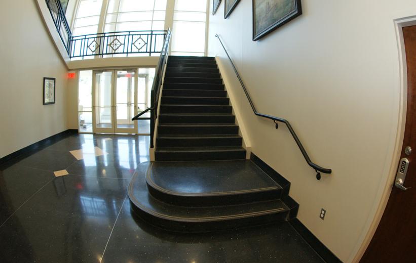 Black Precast Terrazzo Stair Design Doyle Dickerson Terrazzo