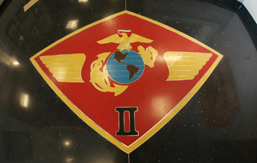 Military logo in terrazzo