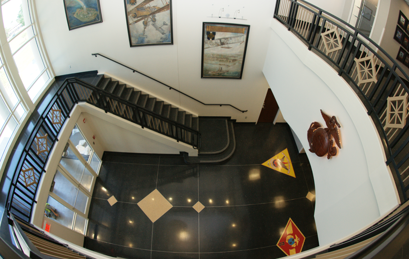 Black Terrazzo Flooring at 2nd Marine Command Operations Facility