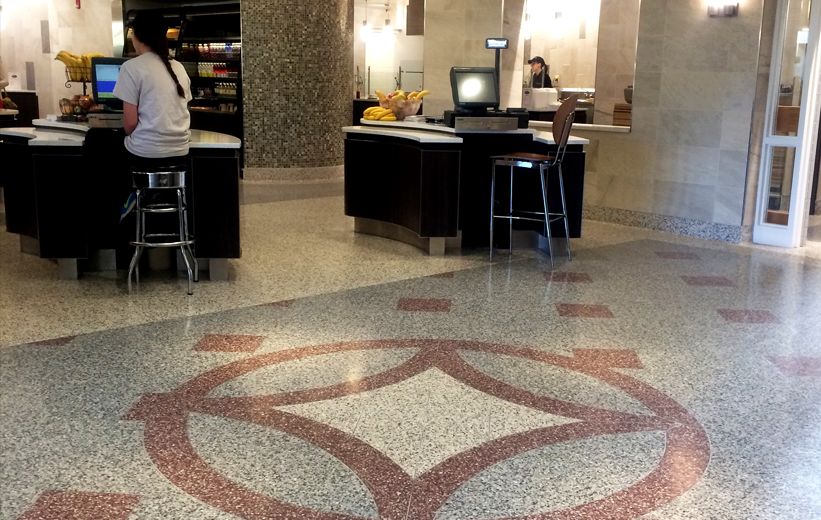 ASU Trivette Dining Hall with epoxy terrazzo flooring