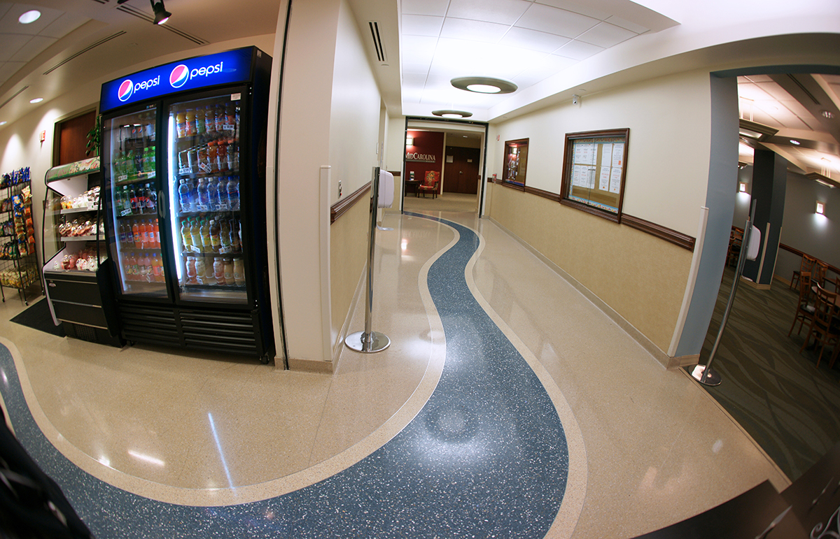 Alamance Regional Center Free-Flowing Terrazzo Lines