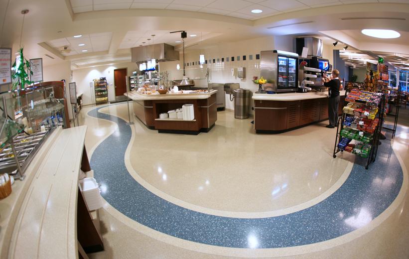 Seamless Terrazzo Design at Alamance Medical Center