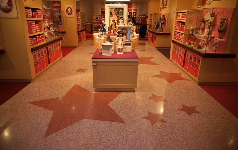American Girl retail store terrazzo installation