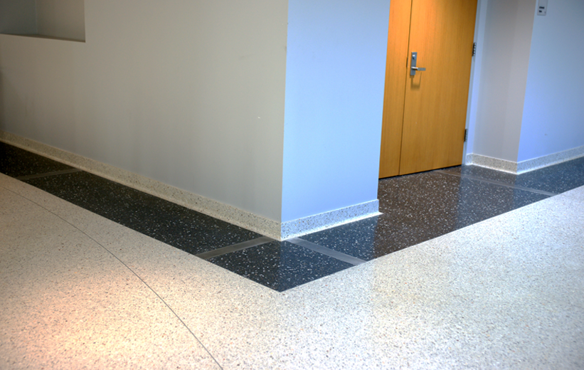 White Terrazzo Floor and Cove Base at American University