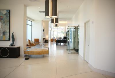 Moda North Bay Village epoxy terrazzo flooring installation