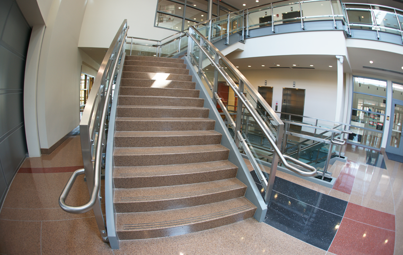 Brown Terrazzo Stairs at Bowie State University