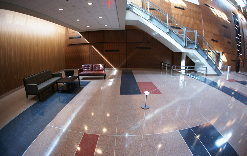 Epoxy Terrazzo flooring at Bowie State University