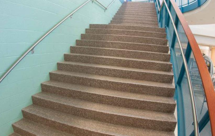 Brown Precast Terrazzo Stair Treads | Doyle Dickerson Terrazzo
