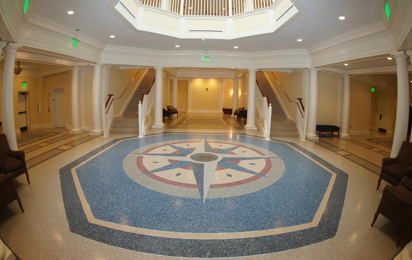 CNU Freeman Center - Terrazzo Installed by Doyle Dickerson Terrazzo