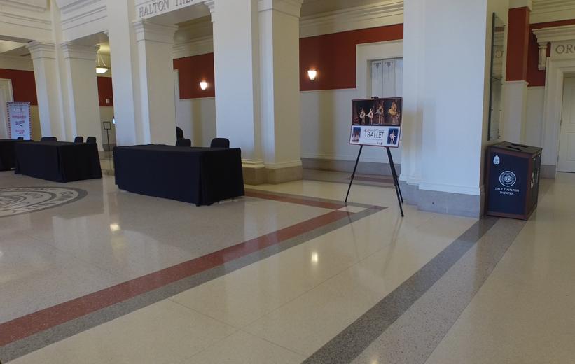 Epoxy Terrazzo floor shines at Central Piedmont Community College in Charlotte, North Carolina