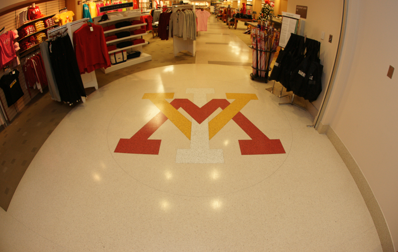 Camp Lejeune Hall Terrazzo Design in Retail Space