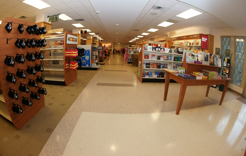 Terrazzo floor design in retail environment in North Carolina