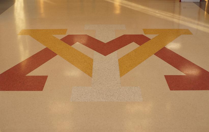 Camp Lejeune multi-color terrazzo logo