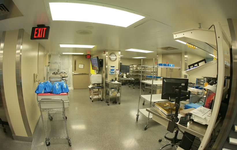 Resinous terrazzo flooring Carolinas Medica Center Levine Center