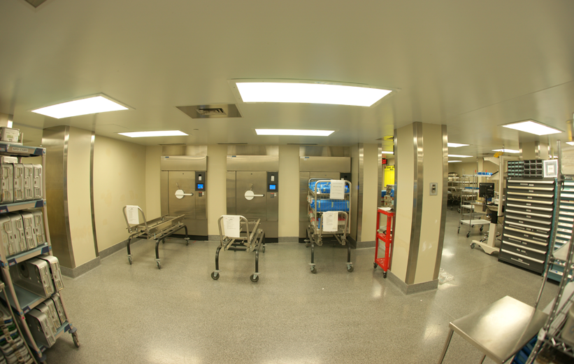 Carolinas Medical Center Terrazzo Floor in Research Lab