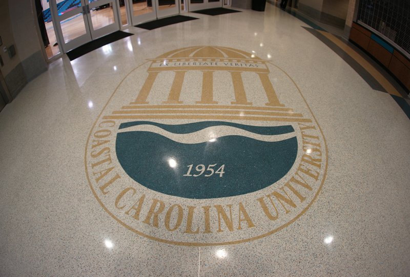 Coastal Carolina University Terrazzo Flooring Graphic Installation
