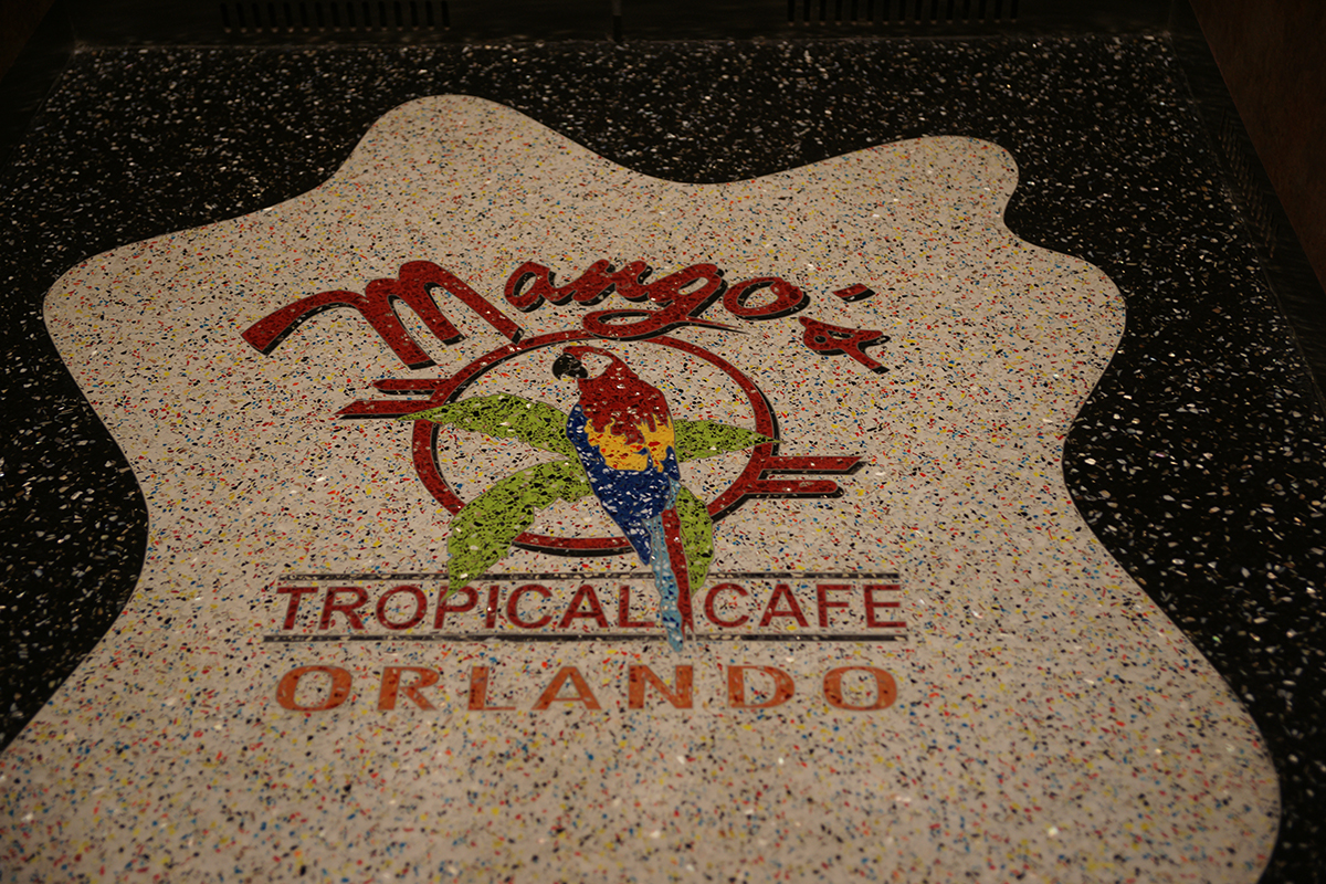 Mango's Tropical Cafe Terrazzo Logo