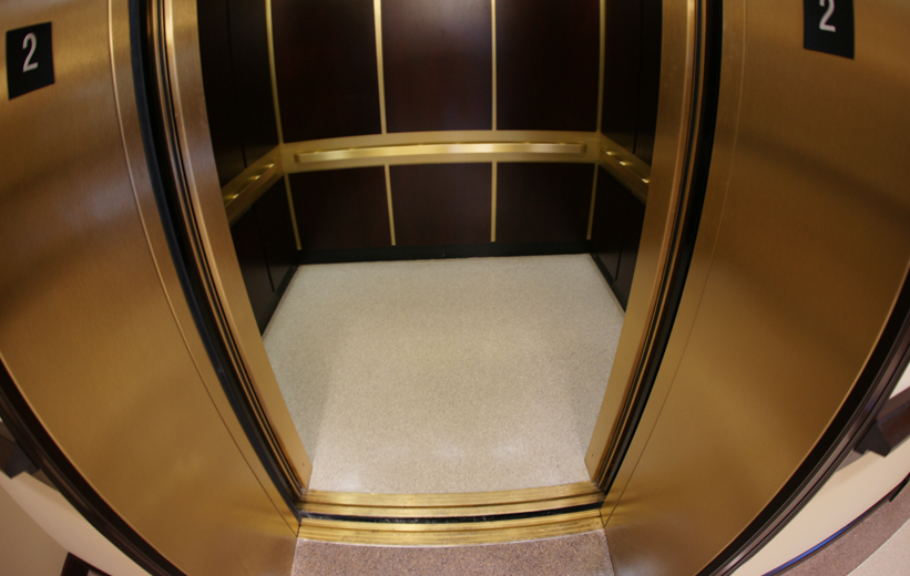 Terrazzo Elevator at Dawson County Courthouse