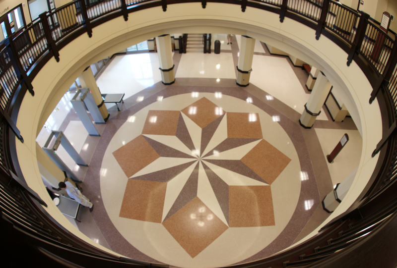 Dawson County Courthouse Terrazzo Flooring
