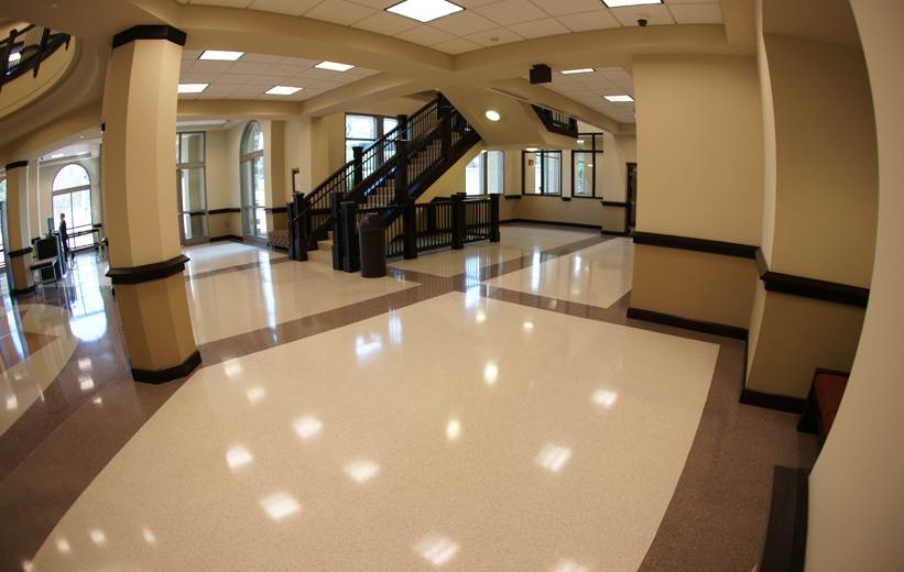 Doyle Dickerson Terrazzo Installation at Dawson County Courthouse