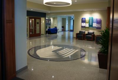Duke University School of Nursing Epoxy Terrazzo Floor Logo