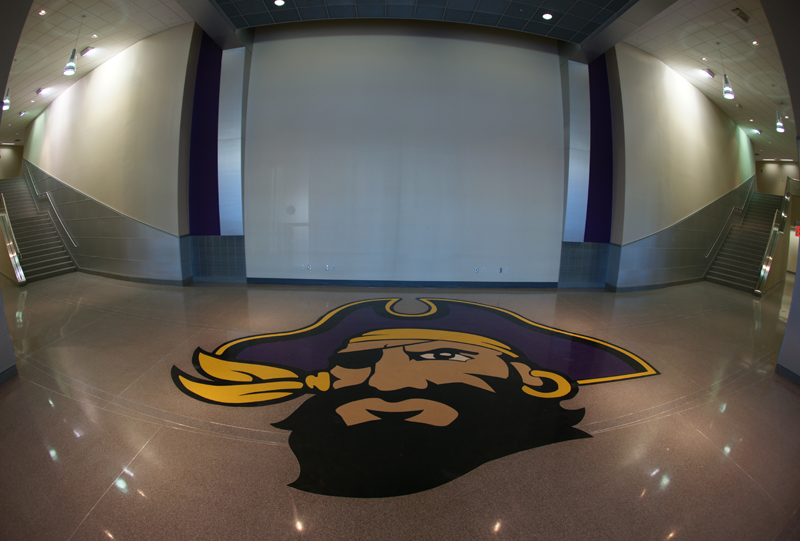 East Carolina University Terrazzo Flooring with Pirate Logo