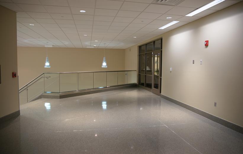 Shiny terrazzo floors at East Carolina University
