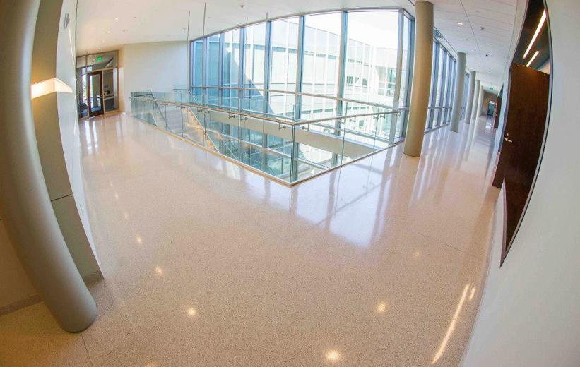 Beautiful shiny terrazzo flooring at Elizabeth City State University