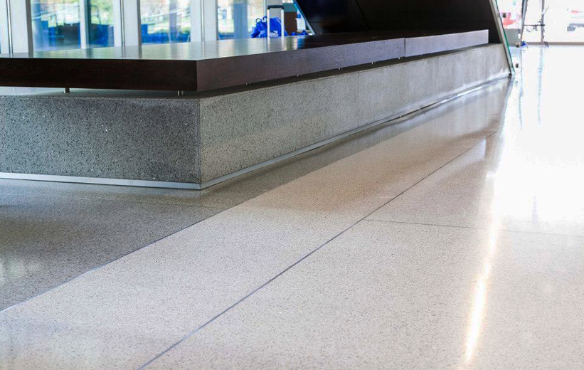 Precast terrazzo base and flooring at Elizabeth City State University