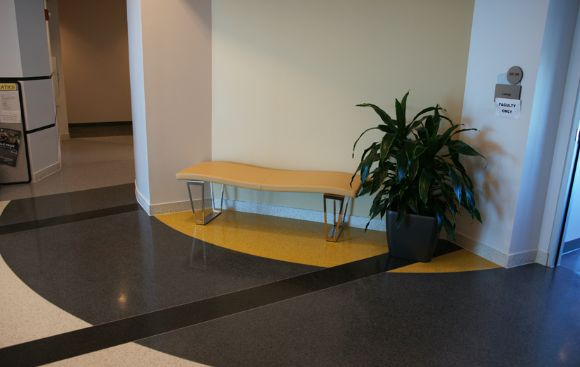 Black and Yellow Terrazzo Flooring at Embry Riddle Aeronautical University