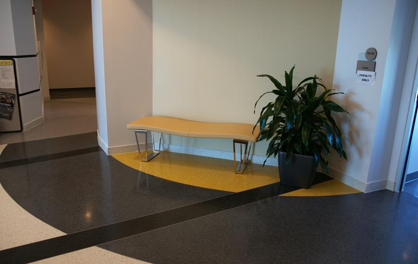 Black and Yellow Terrazzo Flooring at Embry Riddle Aeronautical University