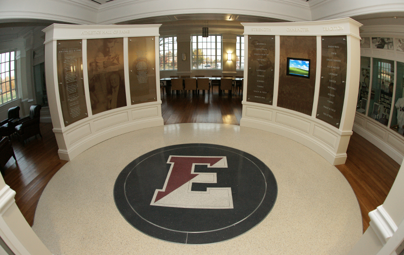 Terrazzo Flooring School Logo at Episcopal High School