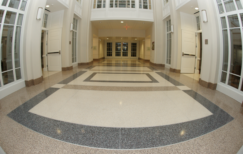 Terrazzo Flooring School Design at Episcopal High School
