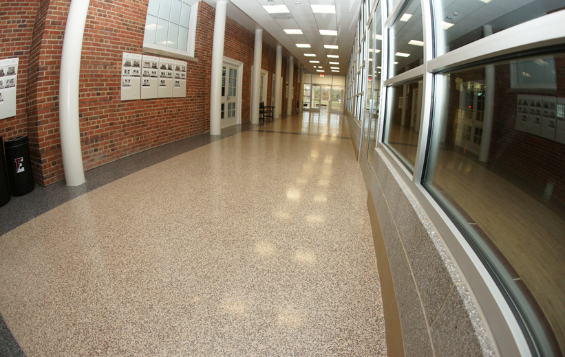 Terrazzo Hallway Corridor at Episcopal High School