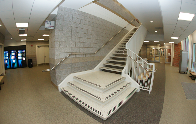 Terrazzo Flat Stair Treads and Landing at Episcopal High School