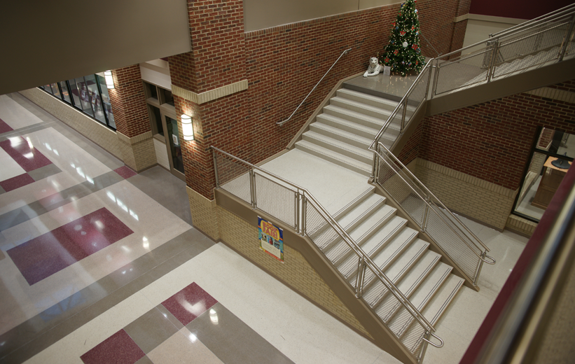 Precast Treads and Terrazzo Flooring at New Fair Street School