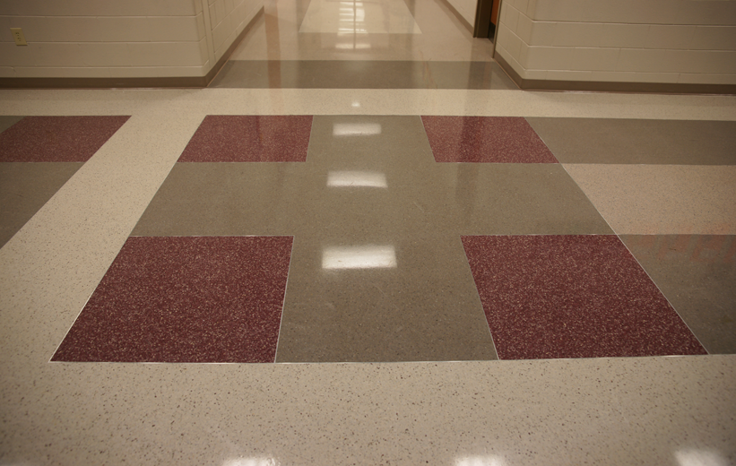 Terrazzo Floor Design at Fair Street School