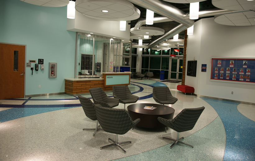 Florida Atlantic University Interior Design with terrazzo flooring