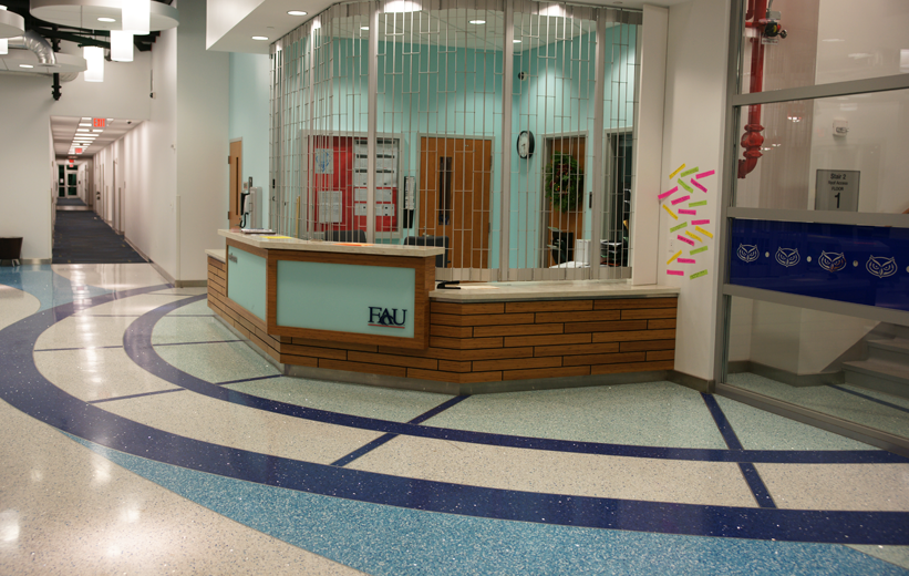 Florida Atlantic University Terrazzo Flooring Installation