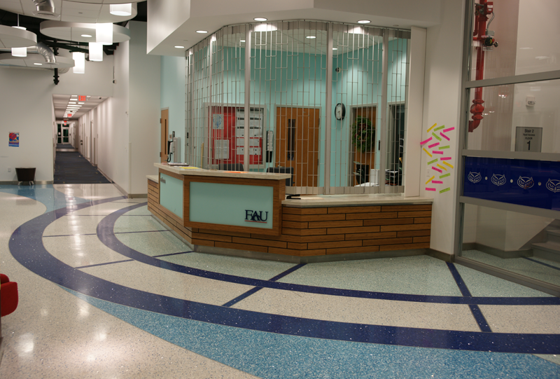 Florida Atlantic University Epoxy Terrazzo Flooring Installation
