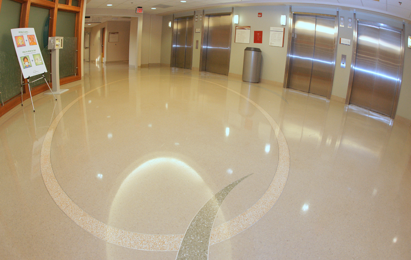 Seamless terrazzo design at Forsyth Medical Center